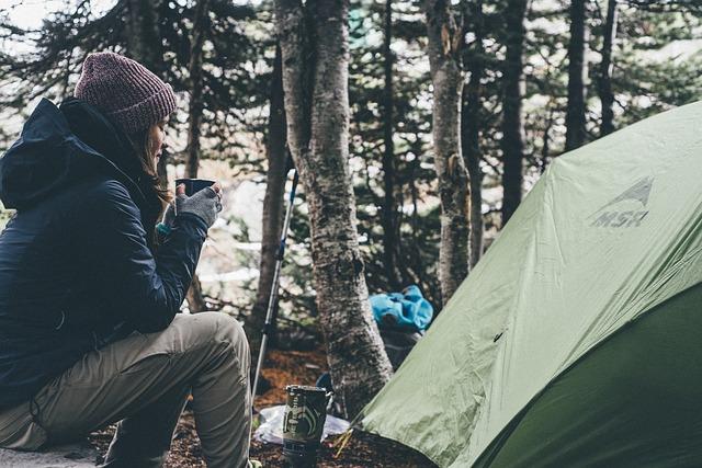 camper enjoying her solitude