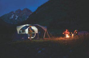 coleman-elite-weathermaster-6-tent-camping at night