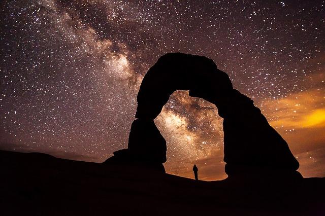 view of night sky full of stars
